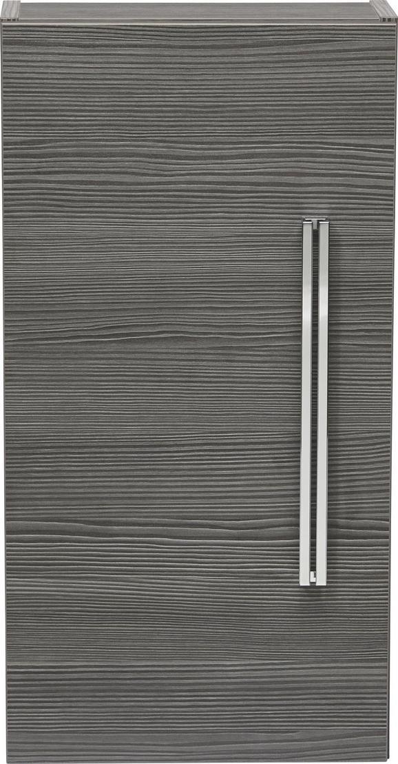 Hängeschrank Mooreichefarben - Chromfarben/Mooreichefarben, MODERN, Glas/Holzwerkstoff (35/68/16cm) - Premium Living