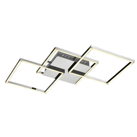 LED-Deckenleuchte Jose max. 36 Watt - Silberfarben/Weiß, KONVENTIONELL, Kunststoff/Metall (75/37/6cm) - Premium Living