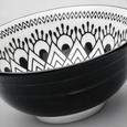 Kombiservice Tribal Chic 24-teilig - Schwarz/Weiß, LIFESTYLE, Keramik - Premium Living