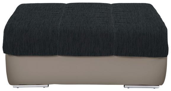 Tabure Multi - boje pijeska/boje kroma, Modern, tekstil/metal (100/43/80cm)