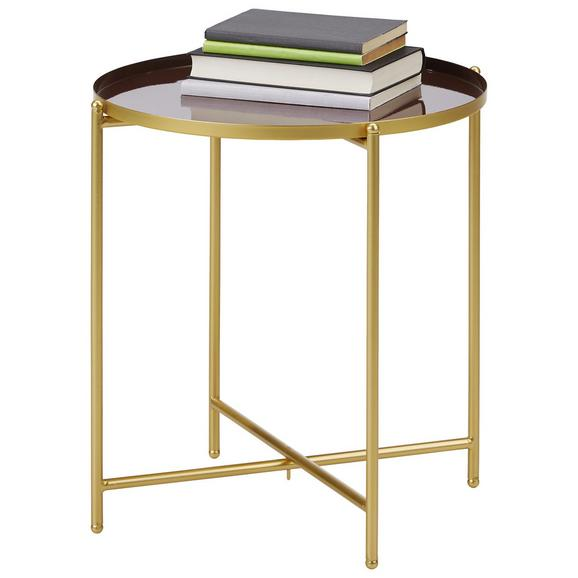 Mizica Leah - zlata/rjava, Moderno, kovina (42/45cm) - Modern Living