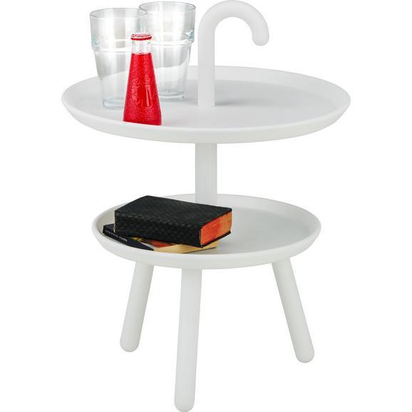 Beistelltisch Weiß - Weiß, MODERN, Kunststoff (42/56cm) - Modern Living