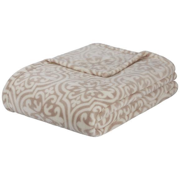 Kuscheldecke Ornella in Beige/Weiß - Beige/Weiß, Trend, Textil (150/200cm) - Mömax modern living
