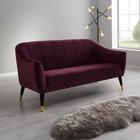 Sofa Florentina 2,5 Sitzer - Beere, MODERN, Holz/Textil (170/84/73cm) - Modern Living