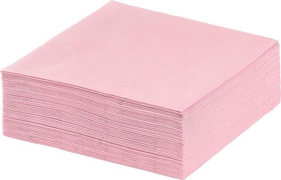Szalvéta Kathleen - pink, papír (33/33cm) - MÖMAX modern living