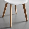 STUHL in weiß 'Frieda' - Buchefarben/Weiß, MODERN, Holz/Kunststoff (54/87,50/46cm) - Bessagi Home