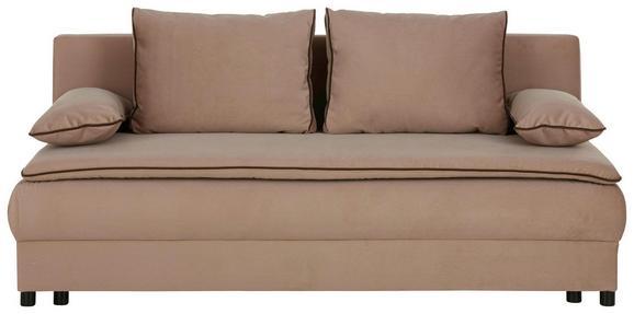 Zofa S Posteljno Funkcijo Mitu - svetlo rjava/črna, Moderno, umetna masa/tekstil (202/80/91cm) - Premium Living