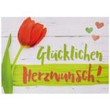 Postkarte Herzlichen Glückwunsch - Multicolor, Papier (14,8/10,5cm)