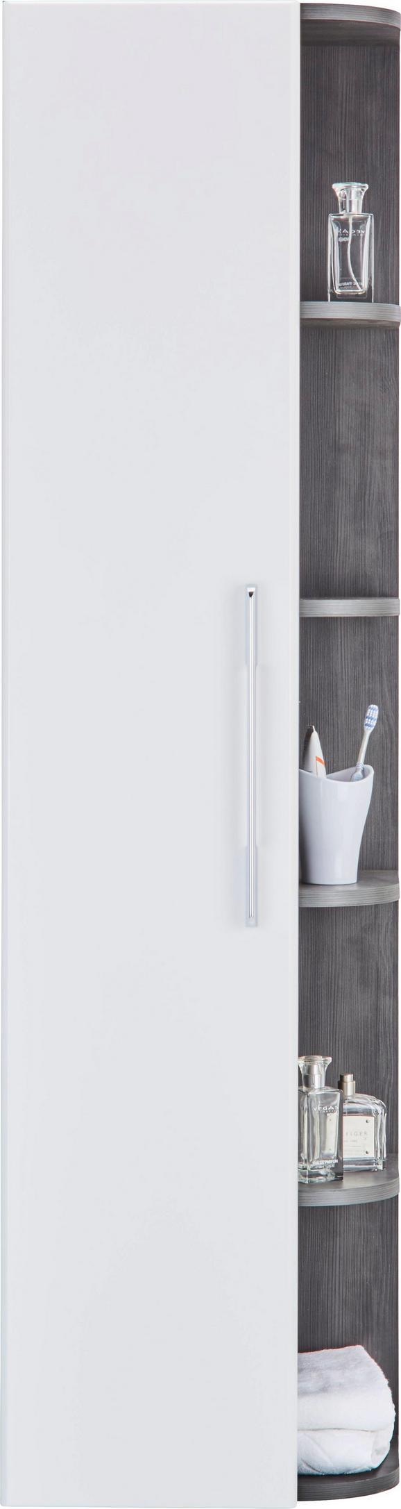 Badezimmerregal Weiß/dunkelgrau - Dunkelgrau/Weiß, MODERN, Holzwerkstoff (40/150/28,5cm) - Mömax modern living