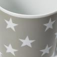 Kaffeebecher Star - Hellgrau/Weiß, MODERN, Keramik (8,4/10,5cm) - Mömax modern living
