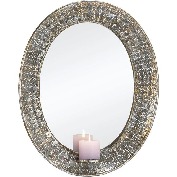 Spiegel in Silber antik ca. 43/5,5/54 cm 'Karmen' - Silberfarben, MODERN, Glas/Metall (43/5,5/54cm) - Bessagi Home