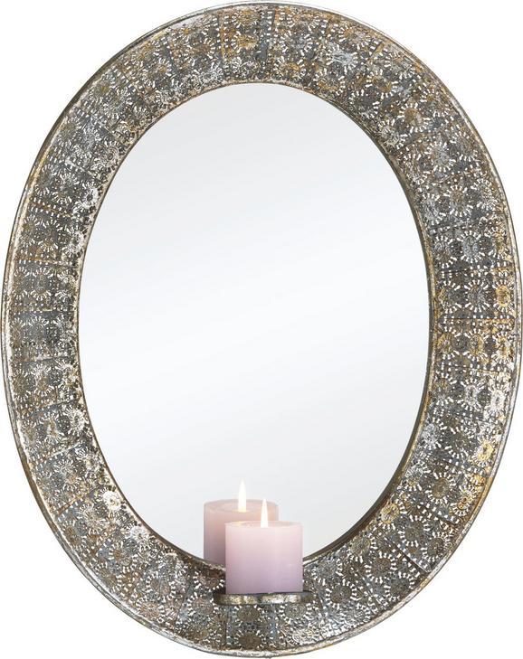 Spiegel Karmen - Silberfarben, MODERN, Glas/Metall (43/5,5/54cm) - Mömax modern living