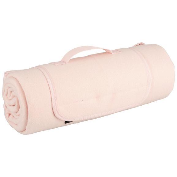 Picknickdecke Uni in Rosa ca. 125x150cm - Rosa, Textil (125/150cm) - Mömax modern living