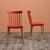 STUHL in Orange 'Celine' - Buchefarben/Orange, MODERN, Holz/Kunststoff (43,5/82/51,5cm) - Bessagi Home