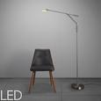 LED-Stehleuchte Marco - Nickelfarben, MODERN, Glas/Kunststoff (23/23/180cm) - Mömax modern living