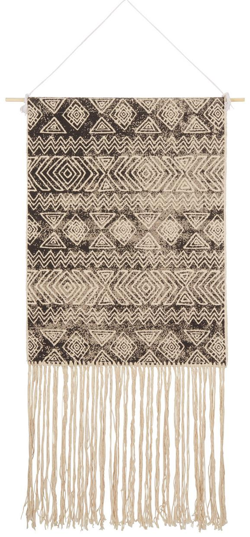 Wanddeko Mailo Naturfarben/Schwarz - Schwarz/Naturfarben, KONVENTIONELL, Textil (50/70cm)