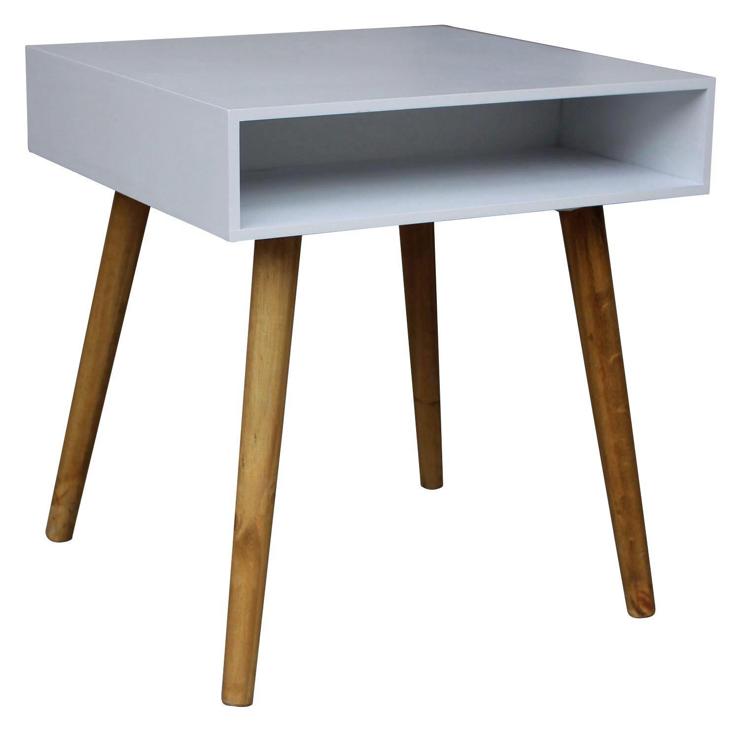 Kisasztal Alina - tölgy színű/fehér, modern, faanyagok (45/49/45cm)