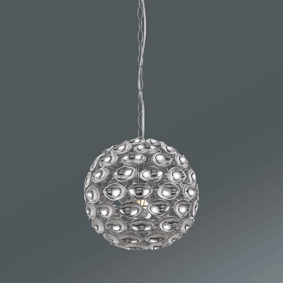 Hängeleuchte Cathy max. 40 Watt - Chromfarben, LIFESTYLE, Kunststoff/Metall (30/150cm) - Premium Living