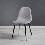 Stuhl Lio - Hellgrau/Schwarz, MODERN, Holz/Textil (43/86/55cm) - Modern Living