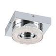 Deckenleuchte Fradelo mit LED - Klar/Chromfarben, MODERN, Glas/Kunststoff (14/14/6cm)