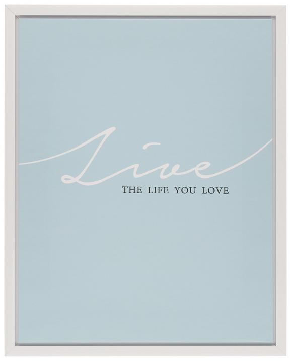 Slika Na Platnu Wording - roza/modra, umetna masa/les (40/50/2,5cm) - Mömax modern living