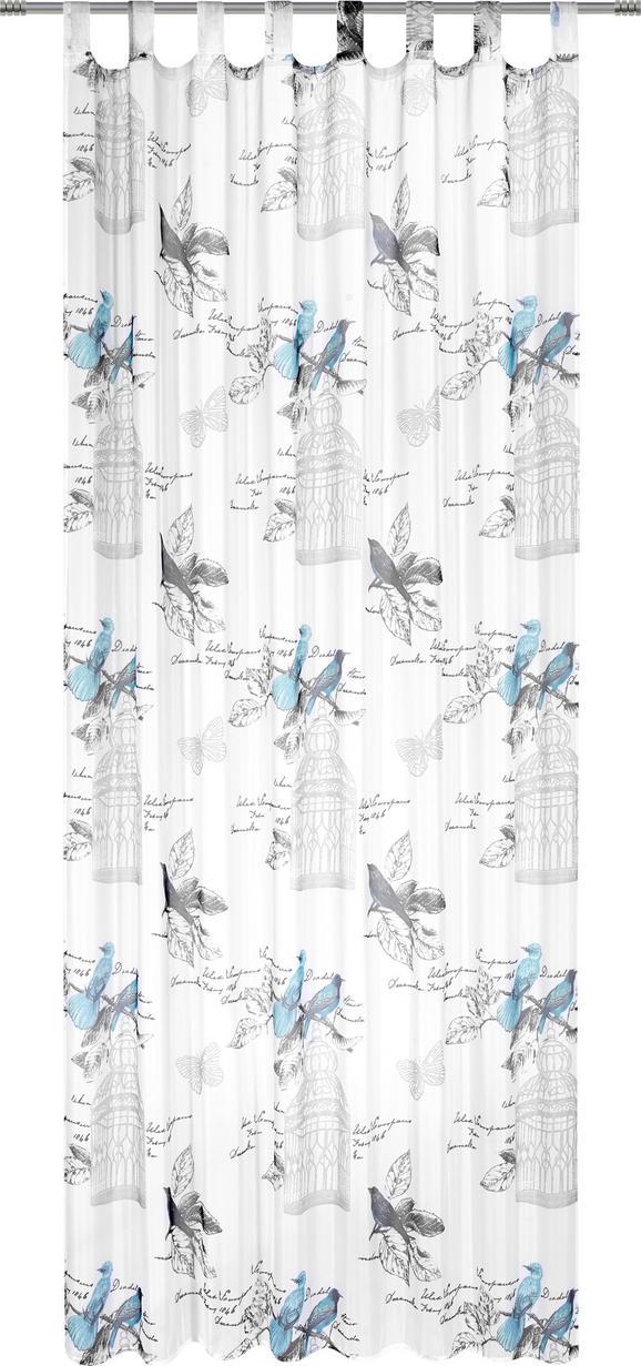 Schlaufenvorhang Romana, ca. 140x245cm - Türkis, ROMANTIK / LANDHAUS, Textil (140/245cm) - MÖMAX modern living