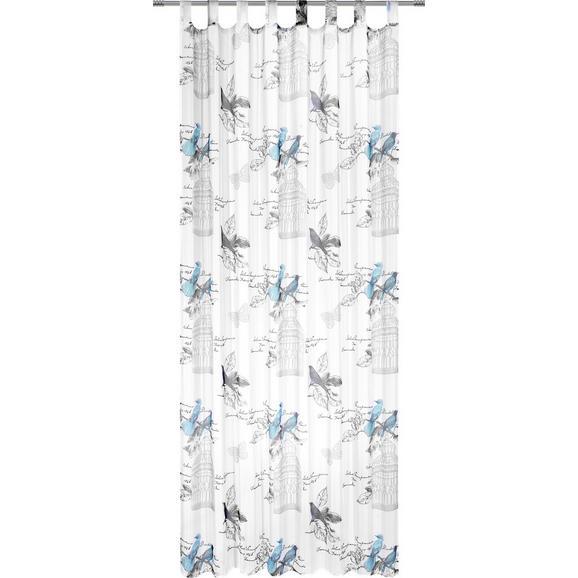 Zavesa Z Zankami Romana - turkizna, Romantika, tekstil (140/245cm) - Mömax modern living