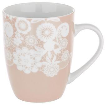 Lonček Za Kavo Lacey - roza, Romantika, keramika (8,5/10,3cm) - Mömax modern living