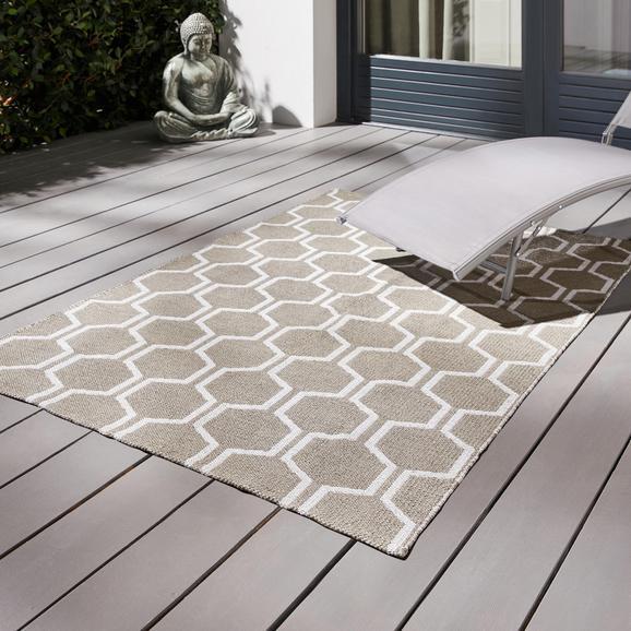 Outdoorteppich Jaques 120x170cm - Hellgrau/Naturfarben, MODERN, Textil (120/170cm) - MÖMAX modern living