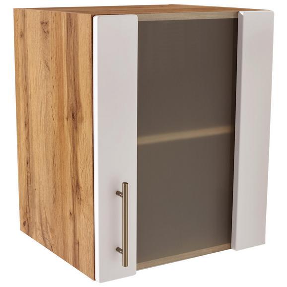 Kuhinjska Zgornja Omarica Stella Hg50 - bela/hrast, kovina/leseni material (50/57/37cm)