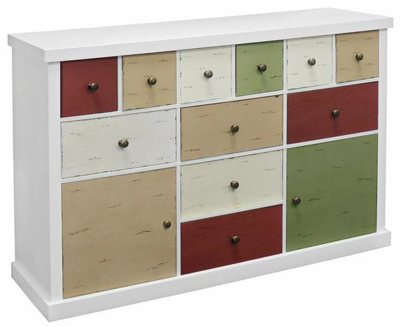 Komoda Mailand - bela/večbarvno, Moderno, kovina/leseni material (120/77/34cm) - Mömax modern living
