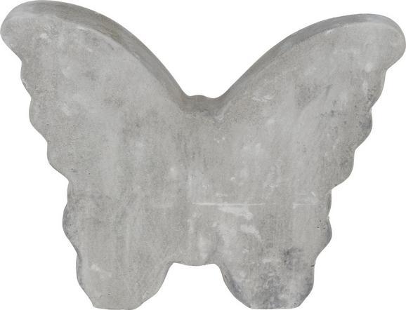 Okrasni Metulj Wanda - siva, Moderno, kamen/ostali naravni materiali (17,5/3,6/14cm)
