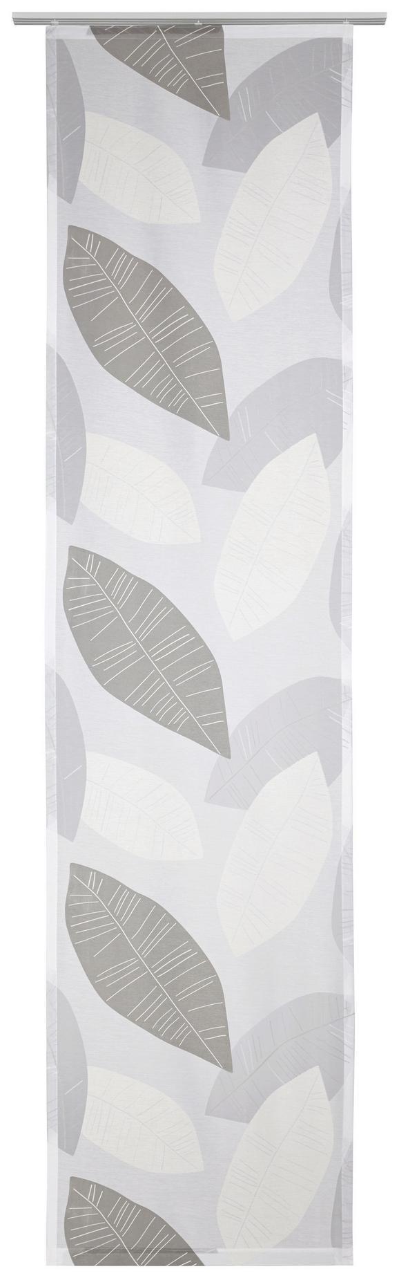 Lapfüggöny Anna - ezüst színű/fehér, modern, textil (60/245cm) - MÖMAX modern living