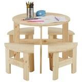 Kindersitzgruppe aus Kiefer vollmassiv - Natur, Holz (60/60/50cm) - Modern Living