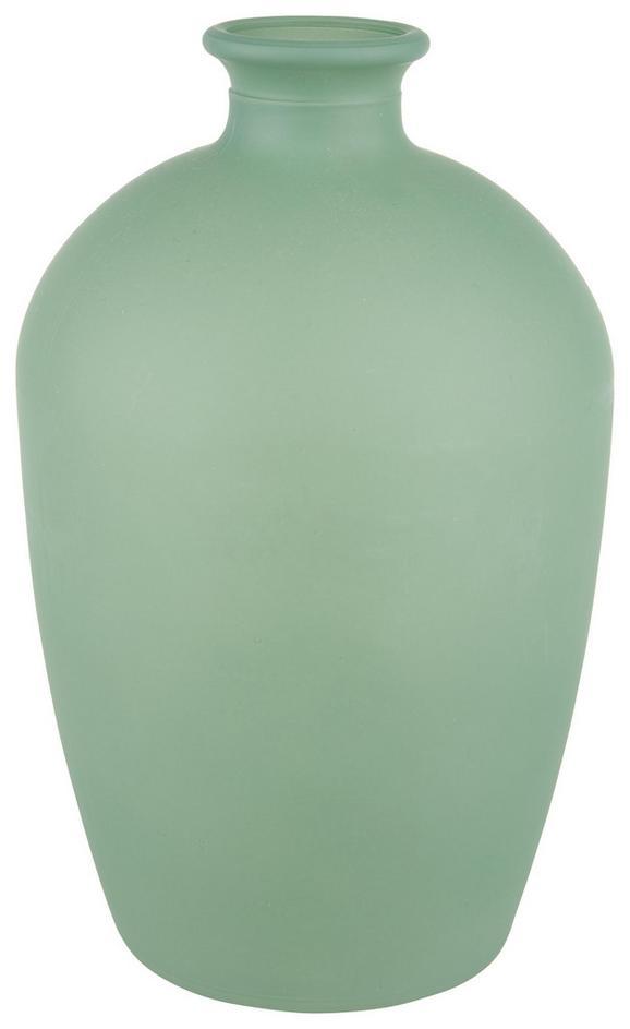 Vase Aurora verschiedene Farben - Hellgrün/Weiß, Basics, Glas (10,5/16,5cm) - Mömax modern living