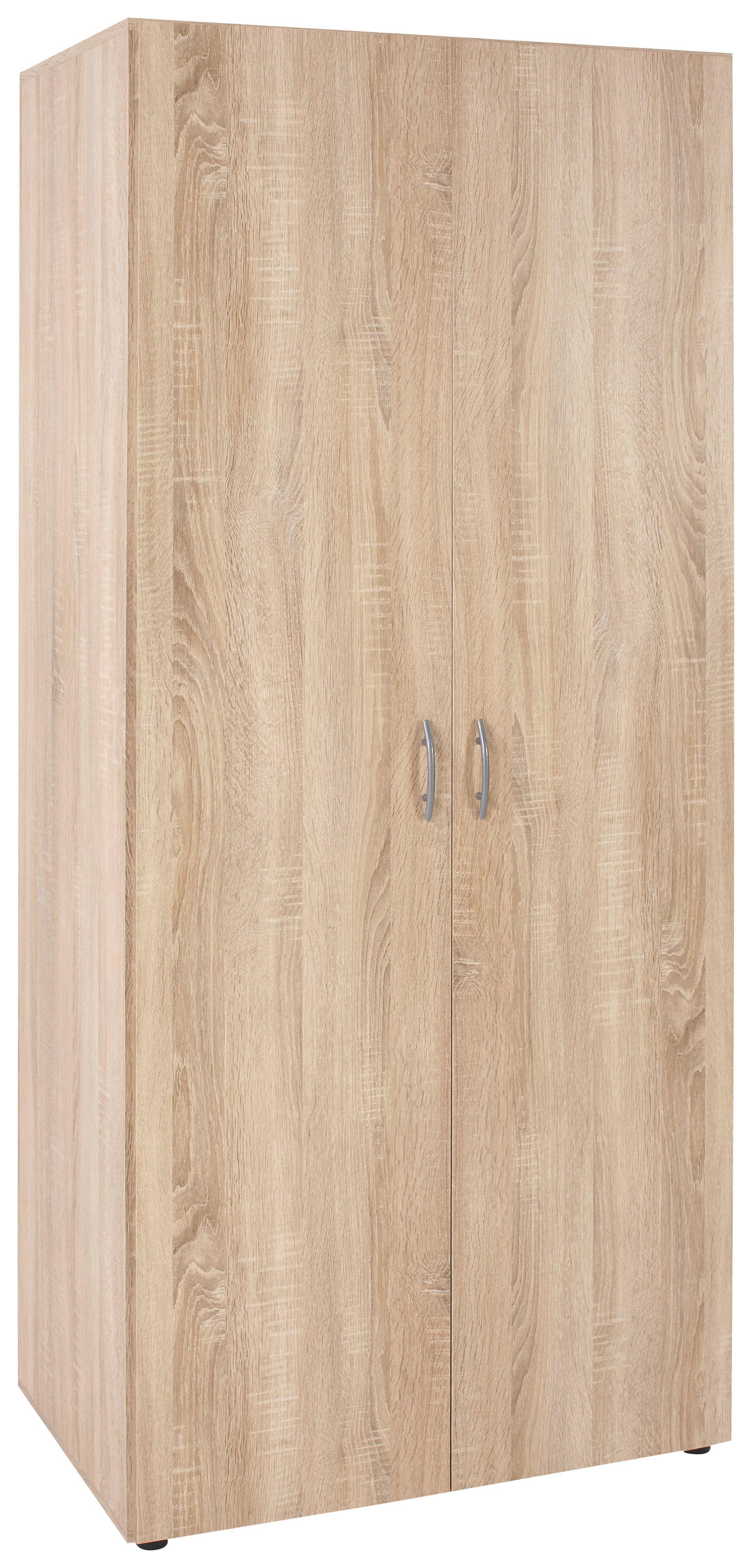 Drehtürenschrank in Eichefarben - Eichefarben, KONVENTIONELL, Holzwerkstoff/Kunststoff (80/177/52cm) - MODERN LIVING