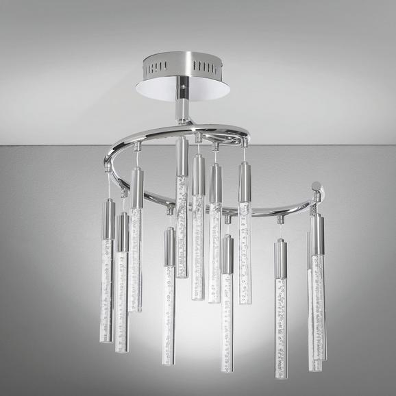 Deckenleuchte Nela mit Led 12-flammig - Chromfarben, MODERN, Kunststoff/Metall (40/34/57cm) - Mömax modern living