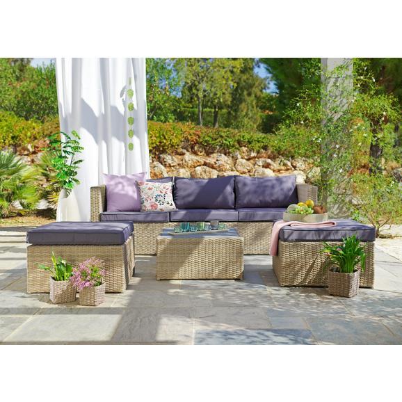 Lounge Garnitura Coruna - svetlo rjava/siva, Moderno, kovina/umetna masa - Mömax modern living