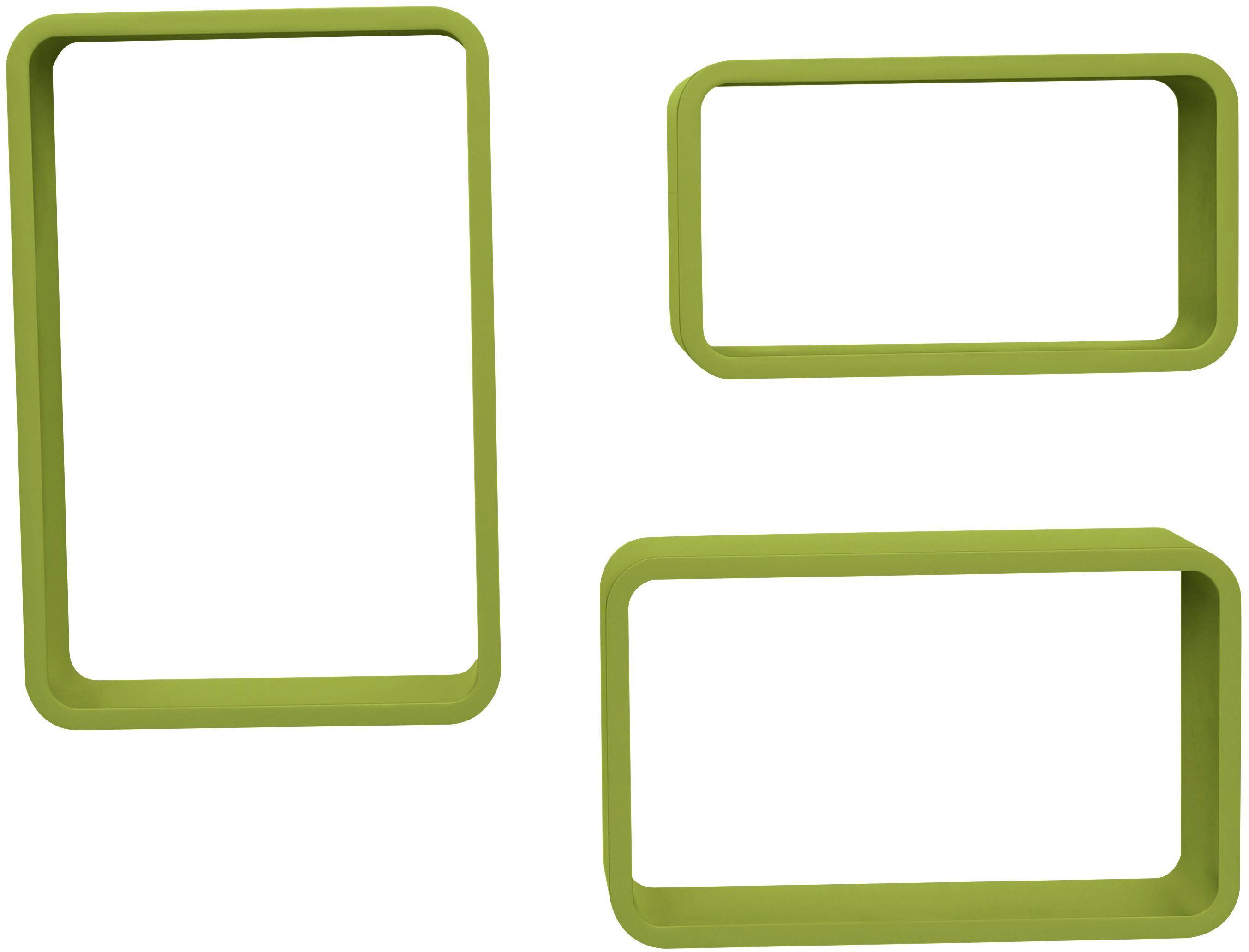 Falipolc Sven - zöld, modern, faanyagok (45/40/35/30/25/20/11cm)