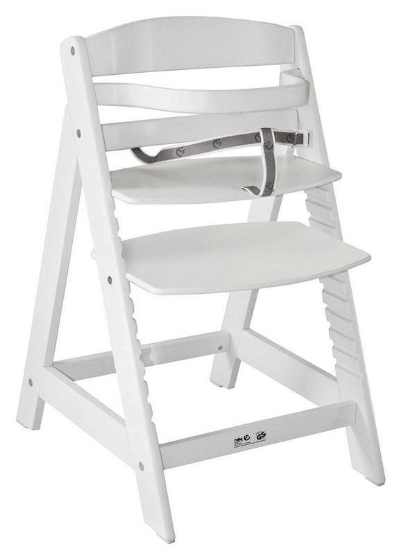 Hochstuhl in Weiß - Weiß, Holz (44/78/54cm) - Modern Living