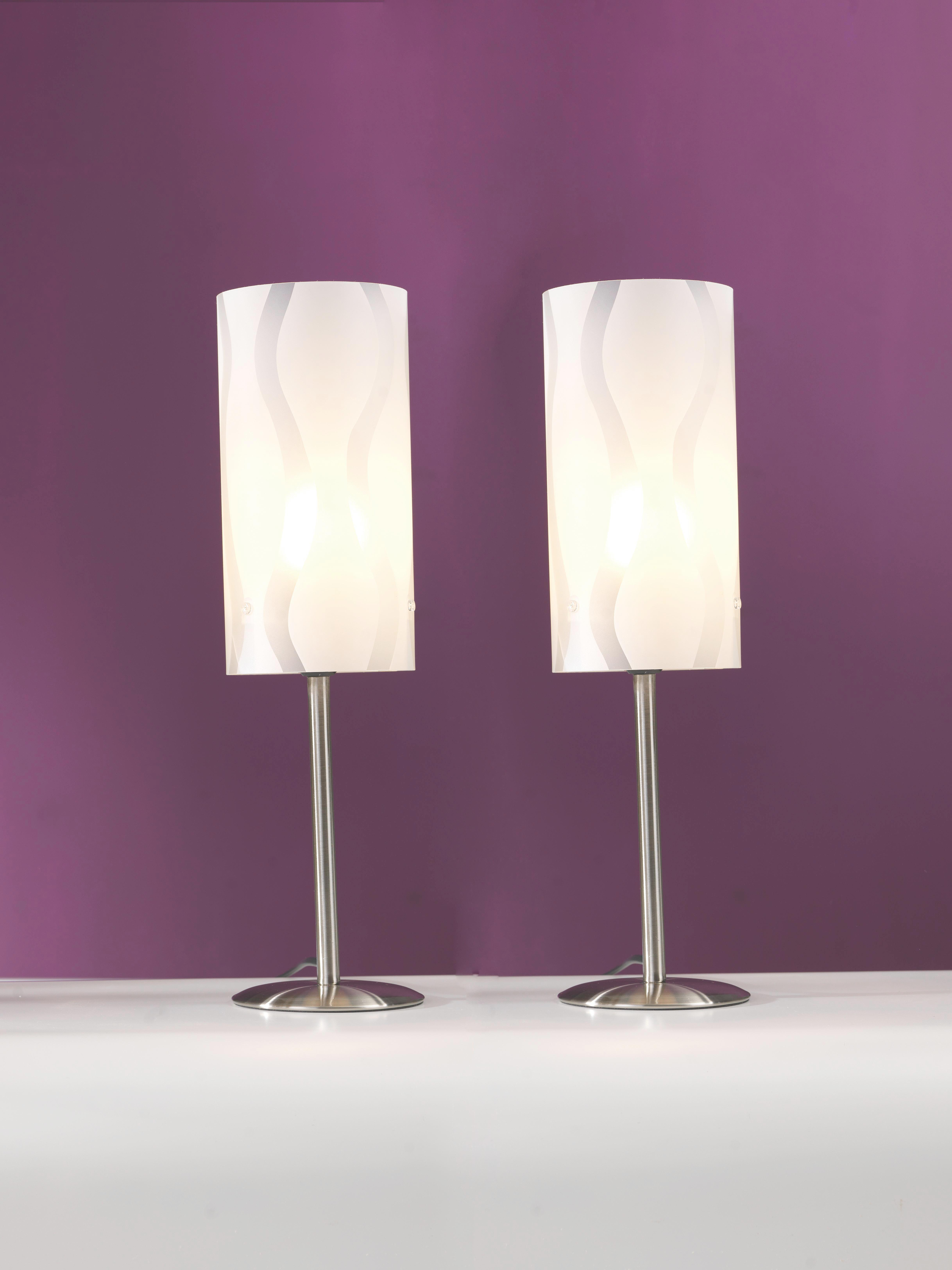 Tischleuchte Hannah, max. 40 Watt - Silberfarben/Weiß, KONVENTIONELL, Kunststoff/Metall (12/41cm) - MÖMAX modern living