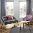 Schaukelstuhl Sophie - Rosa, MODERN, Holz/Textil (74/87/91,5cm) - Mömax modern living