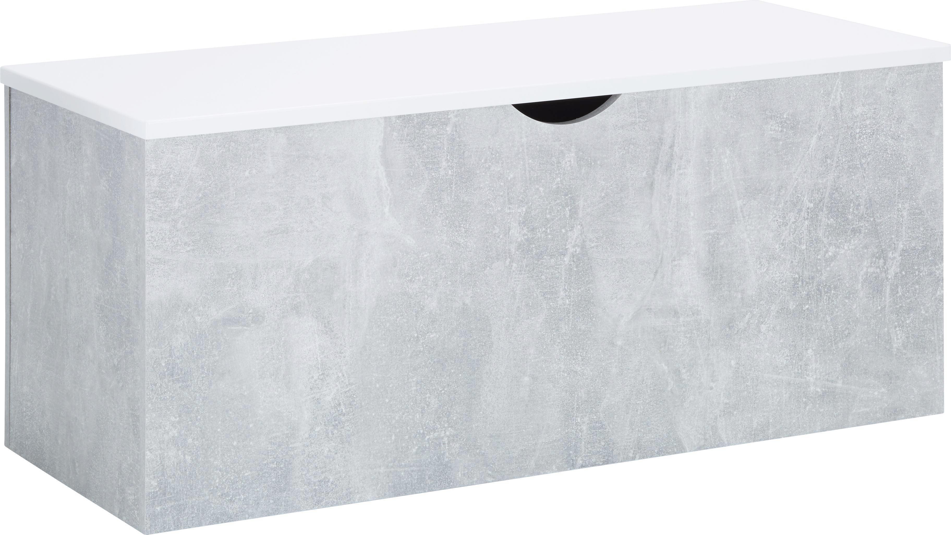 Truhe Alberto - Hellgrau/Weiß, Holzwerkstoff (100/44/43cm) - MÖMAX modern living