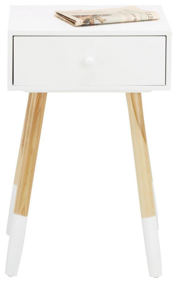 Beistelltisch in Weiß/birkefarben - Birkefarben/Weiß, MODERN, Holz/Holzwerkstoff (30/61/40cm) - MÖMAX modern living