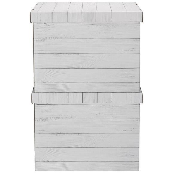 Box mit Deckel Jimmy Naturfarben - Naturfarben, Karton (44,3/33,5/32,5cm) - Mömax modern living