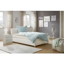 Postelja Boxspring 140x200 Cm Ascari - aluminij/bela, Moderno, umetna masa/tekstil (140/200cm) - Mömax modern living