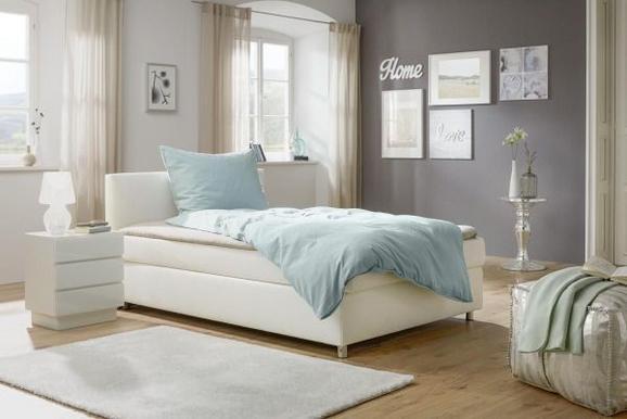 Postelja Boxspring Ascari - aluminij/bela, Moderno, umetna masa/tekstil (140/200cm) - Mömax modern living