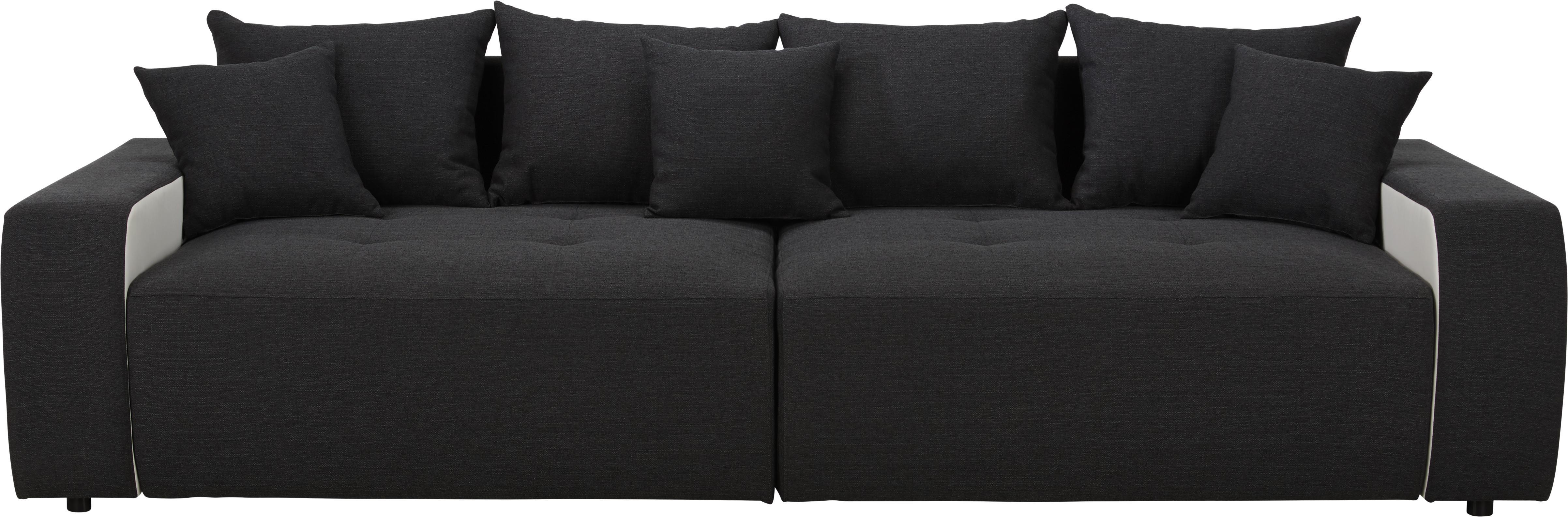 Bigsofa Schwarz/Weiß   Schwarz/Weiß, MODERN, Kunststoff/Textil (292