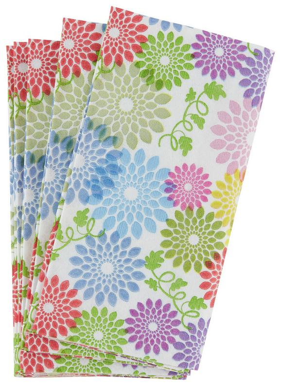 Robček Flower Power - roza/modra, Moderno, papir (34/10/33cm)
