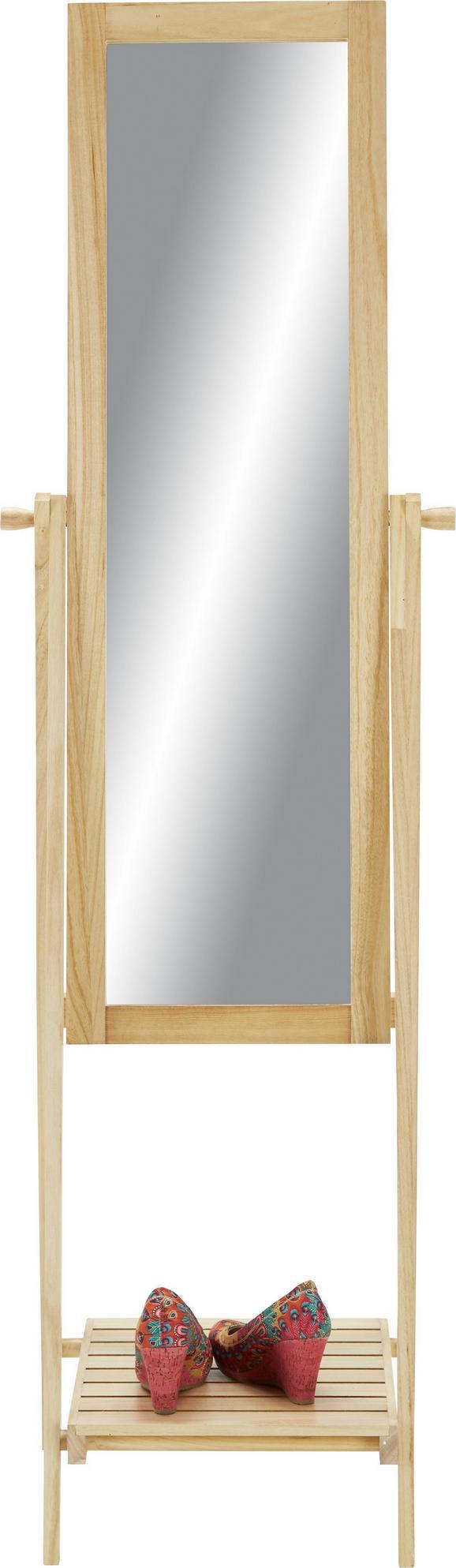 Standspiegel Naturfarben - Naturfarben, MODERN, Glas/Holz (52/174/48cm) - Mömax modern living